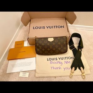 Louis Vuitton Large Pochette and Khaki strap